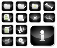 Glossary Icon Set Royalty Free Stock Image