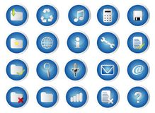 Glossary Icon Set Stock Photos