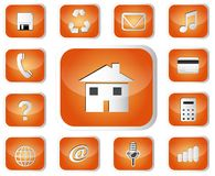 Glossary Icon Set Stock Images