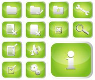 Glossary Icon Set Royalty Free Stock Images