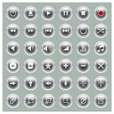 Glossee Series - Player Button Set Stock Photography