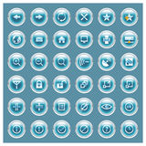 Glossee Series - Web Button Set Stock Photos
