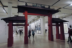 Glossiness Uncarved chabet Wystawa w Moskwa Fotografia Royalty Free