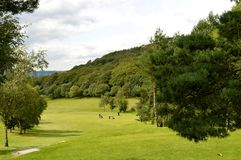 Glossop高尔夫球场在德贝郡 库存图片