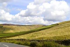 Сельская местность Glossop в Дербишире стоковое изображение
