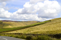Glossop countryside in Derbyshire. A view of the hills above Glossop in the Peak District national park Stock Image