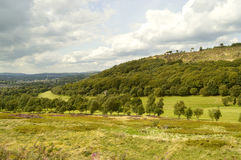 Glossop golf course in Derbyshire. A view of Glossop golf course in the Peak District national park Stock Images