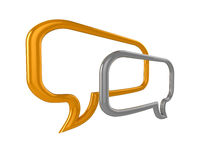 Glossy 3D chat bubbles Royalty Free Stock Images