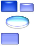 Glossy 3D shapes Royalty Free Stock Images