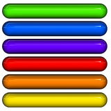 Glossy 3d tubes in different colors Royalty Free Stock Photo