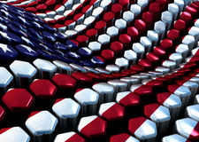 Glossy abstract background from hexagons with USA Stock Photography