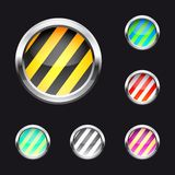Glossy abstract buttons Stock Photo