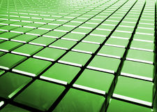 Glossy abstract green background from cubes. 3D render Royalty Free Stock Images
