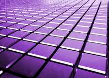 Glossy abstract purple background from cubes. 3D render stock illustration