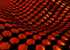 Glossy abstract red background from hexagons Royalty Free Stock Images