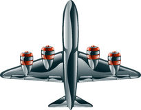Glossy aeroplane Royalty Free Stock Image