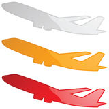 Glossy airplanes Royalty Free Stock Photo