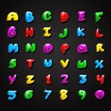 Glossy Alphabet and Number Collection Stock Image