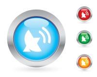 Glossy antenna button set Stock Image