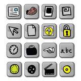 Glossy Application Icons Stock Images