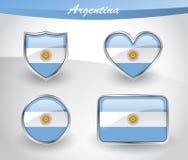 Free Glossy Argentina Flag Icon Set Stock Image - 91165041