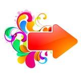 Glossy_arrow_design Photos libres de droits