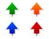 Glossy arrows Royalty Free Stock Photo