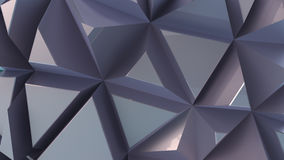 Glossy background from extruded triangles. Metal surface Stock Photography