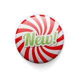 Glossy badge with spiral and text NEW Stock Images