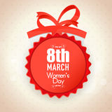Glossy badge for Women's Day celebration. Royalty Free Stock Images