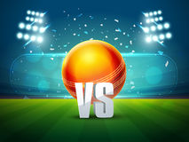 Glossy Ball for Cricket Sports concept. Stock Image
