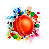 Glossy Ball for Cricket Sports concept. Stock Photos