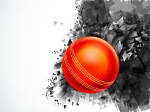 Glossy Ball for Cricket Sports concept. Royalty Free Stock Photos