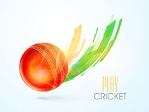 Glossy Ball for Cricket Sports concept. Stock Photo