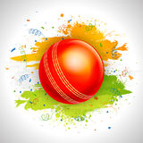 Glossy Ball for Cricket Sports concept. Royalty Free Stock Photography