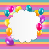 Glossy Balloons Background Vector Illustration Stock Image