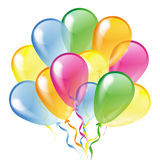 Glossy balloons isolated on a white background Royalty Free Stock Images