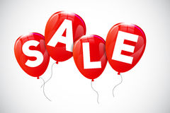 Glossy Balloons Sale Concept of Discount Stock Photography