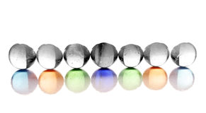 Glossy balls Stock Photo