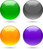 Glossy balls. Royalty Free Stock Photos