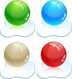 Glossy balls. Royalty Free Stock Images