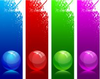Glossy balls. Royalty Free Stock Photo