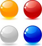 Glossy balls. Royalty Free Stock Image