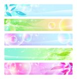 Glossy banners colorful, headers Stock Image