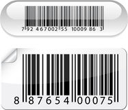 Glossy barcode buttons. Stock Photo