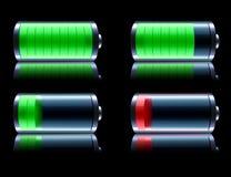 Glossy battery Stock Photography