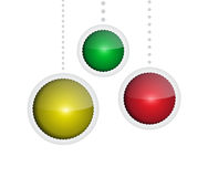 Glossy baubles Stock Photos