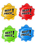 Glossy Best Price Icons Stock Photos