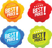 Glossy Best Price Icons 2 royalty free illustration