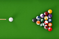Glossy billiard balls set Royalty Free Stock Photos